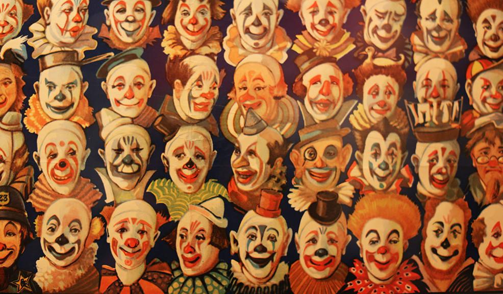 Vintage Circus Clowns 55977